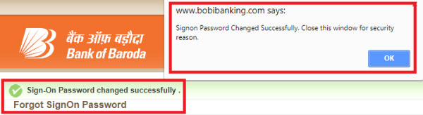 how to reset bank of baroda net banking password