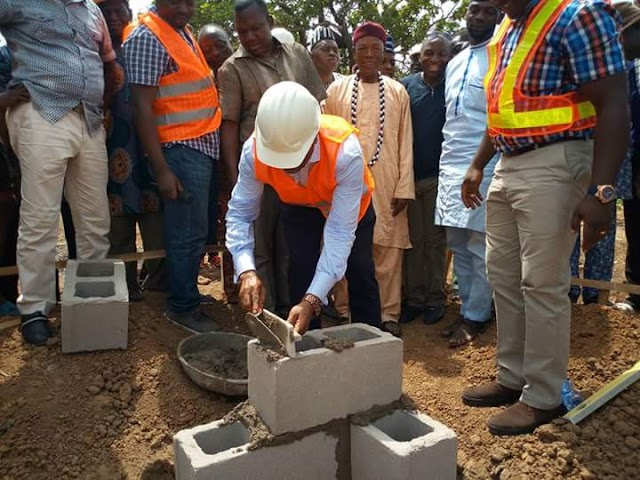 HOUSE OF REPS MEMBER  FLAGS OFF CONSTRUCTION OF A PRIMARY HEALTHCARE FACILITY; DONATES TRANSFORMER TO COMMUNITY