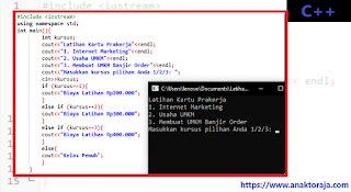 Contoh Program If Else If Sederhana C++