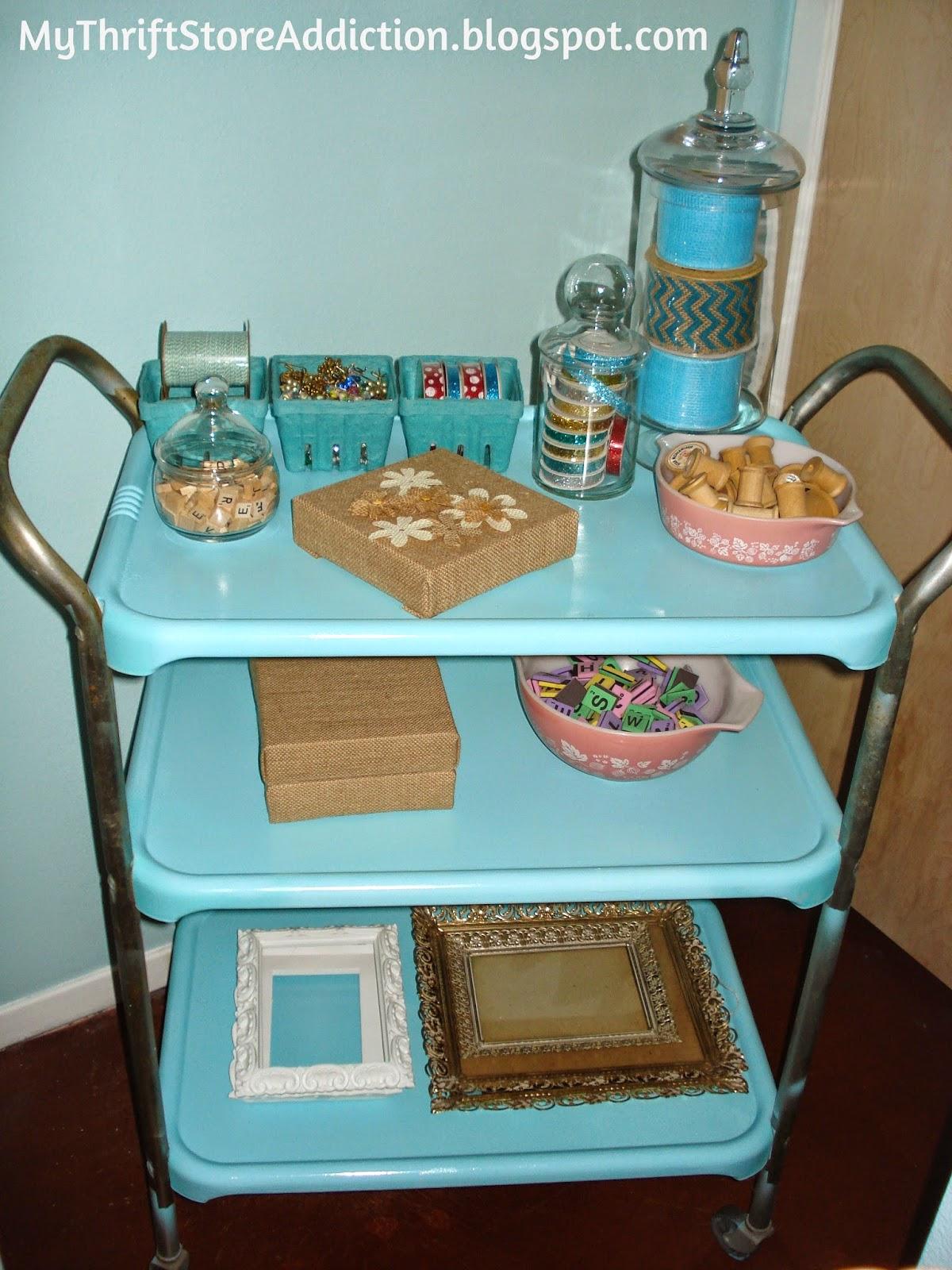 Repurposed Cosco cart craft storage caddy