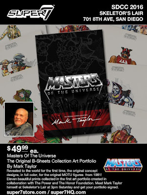 San Diego Comic-Con 2016 Exclusive Masters of the Universe The Original B-Sheets Collection Art Portfolio by Mark Taylor x Super7