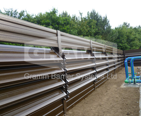 Alluminium Lourved Absorptive Noise Barriers