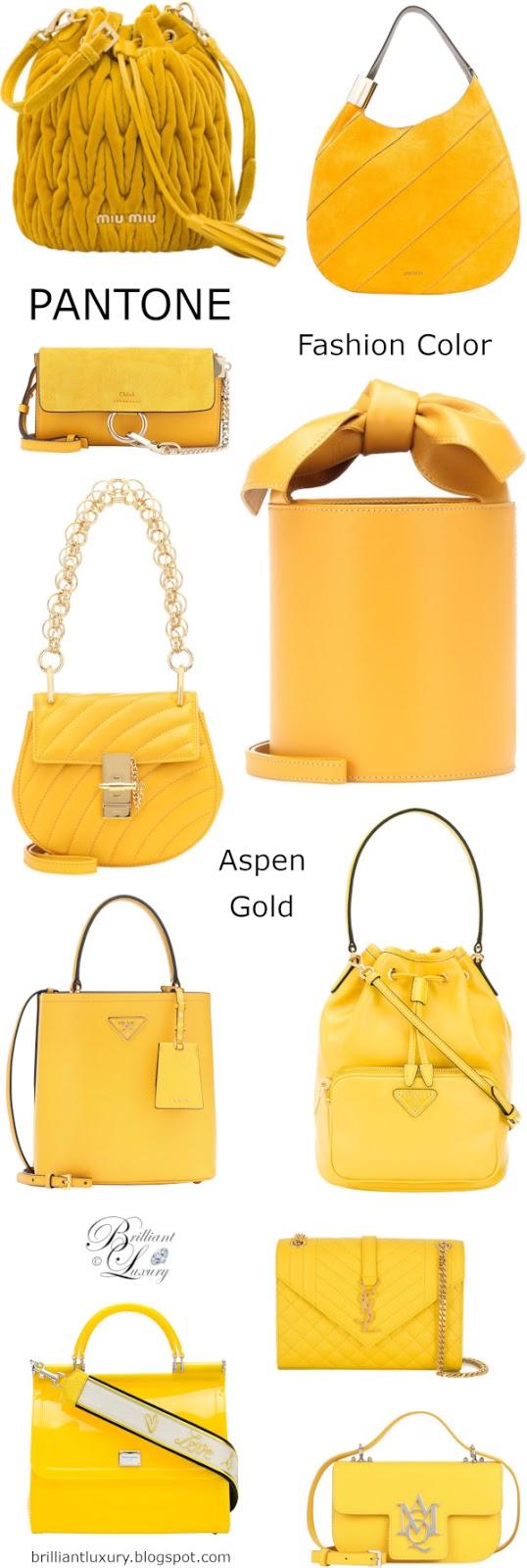 Brilliant Luxury♦Pantone Fashion Color Aspen Gold ~ bags