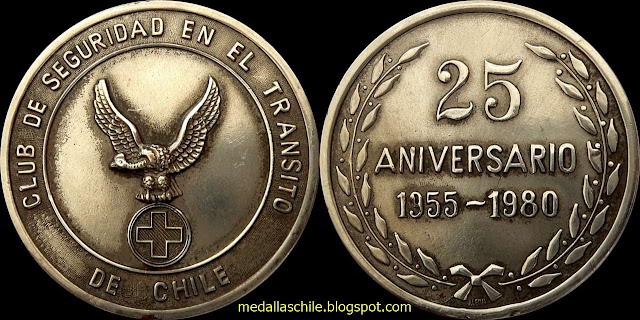 Medalla Club de Seguridad en el Transito 25 años