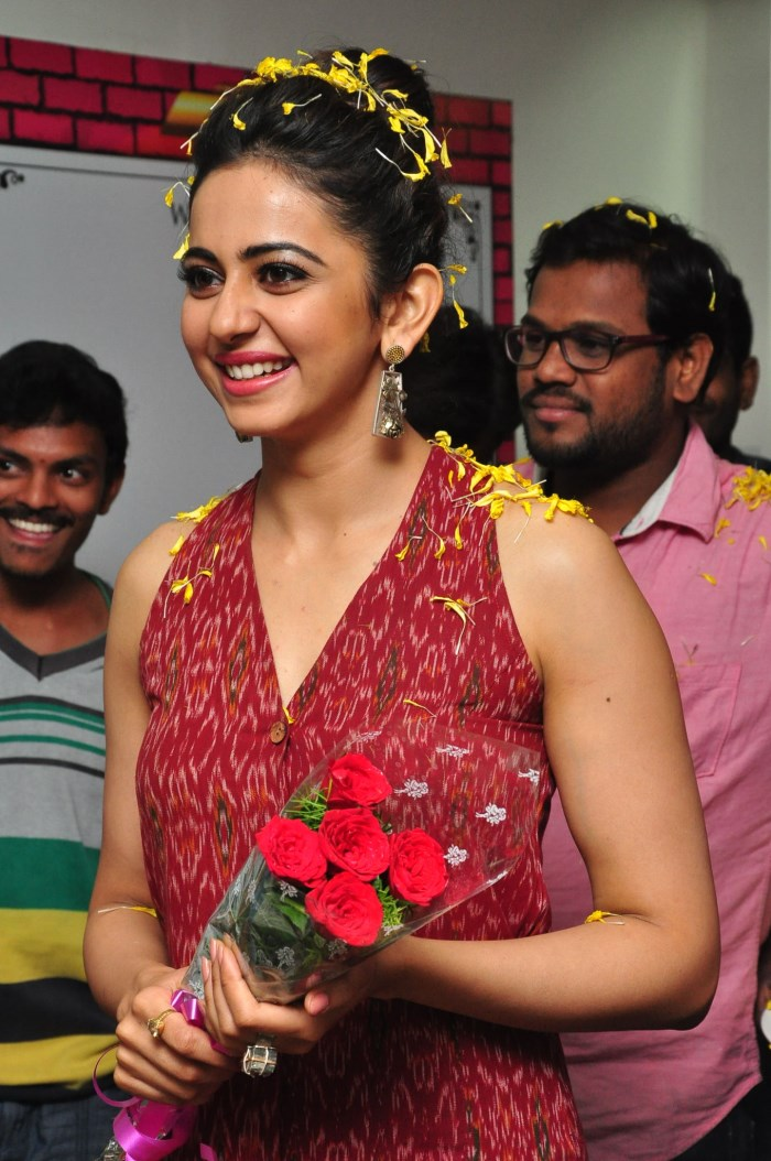 Glamorous Rakul Preet Singh Photos In Red Dress