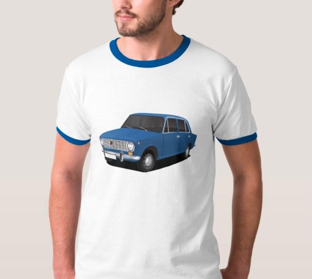 vaz-2101 Lada 1200 blue t-shirts