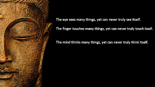 HD image of Buddha face with closed eyes and quote