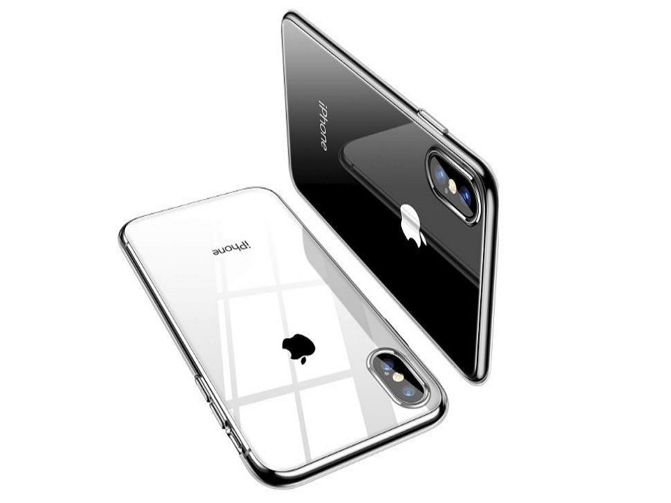 iPhone XS with Transparent Back Cover
