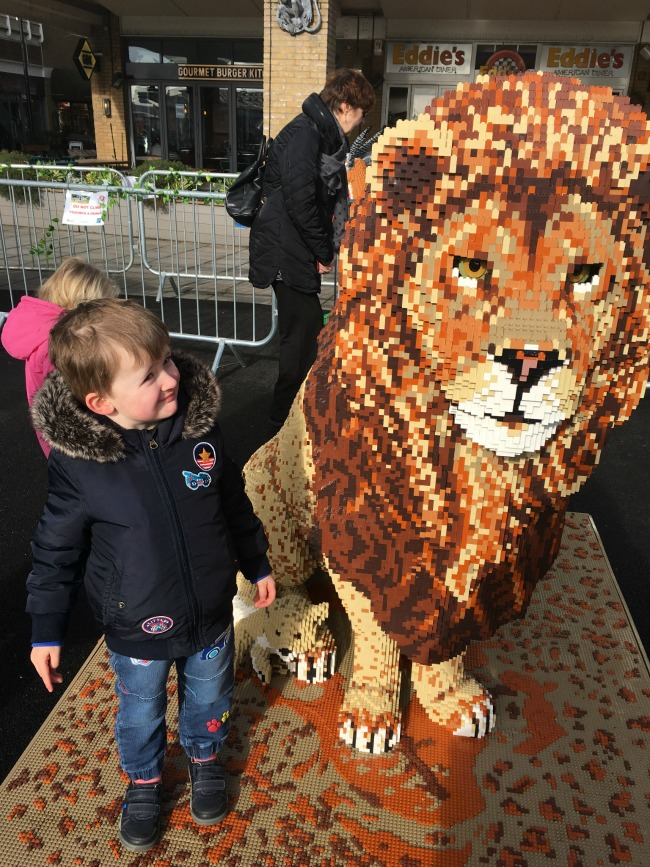boy-and-LEGO-lion