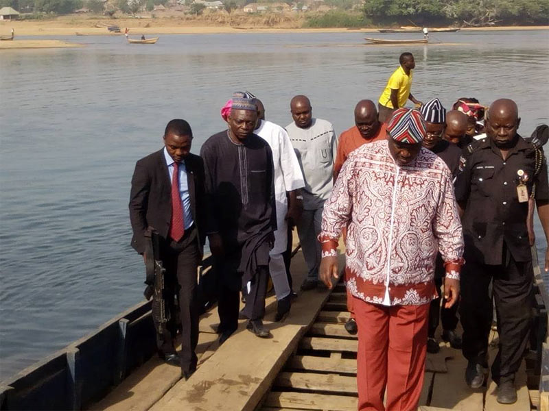 What is wrong with this photo of Governor Orton and his convoy travelling on boat?