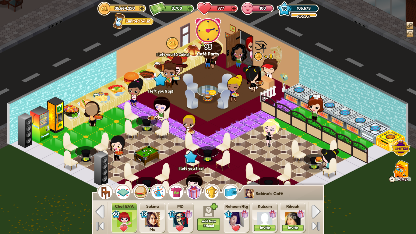 Cafeland world kitchen v0 apk mod money android for Kitchen queen mod apk