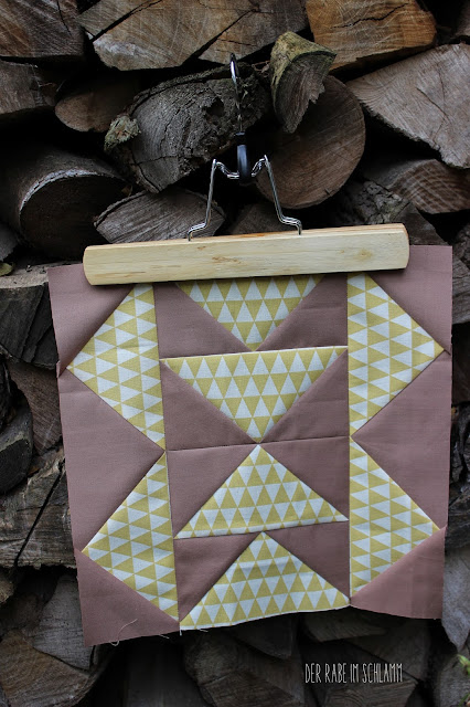Der Rabe im Schlamm, Quiltblock, Time Lapse, Patchwork, Quilt, Fall Block Party, fabricdotcomblockparty