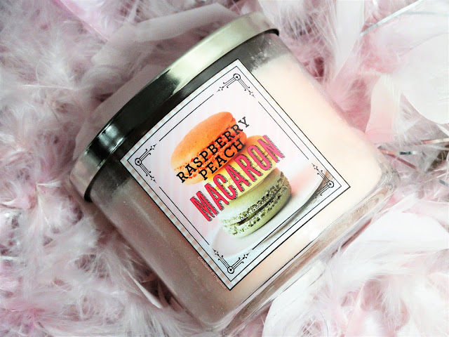 Avis Raspberry Peach Macaron de Bath & Body Works, blog bougie, blog beauté, blog parfum