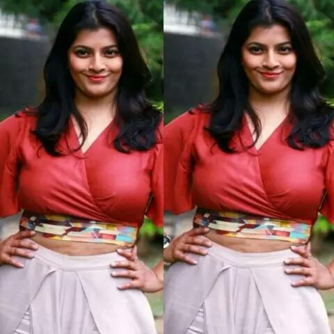 रेड आउटफिट में तमिल फिल्म की अभिनेत्री ने कराया बोल्ड फोटोशूट, तस्वीरें हुईं वायरल