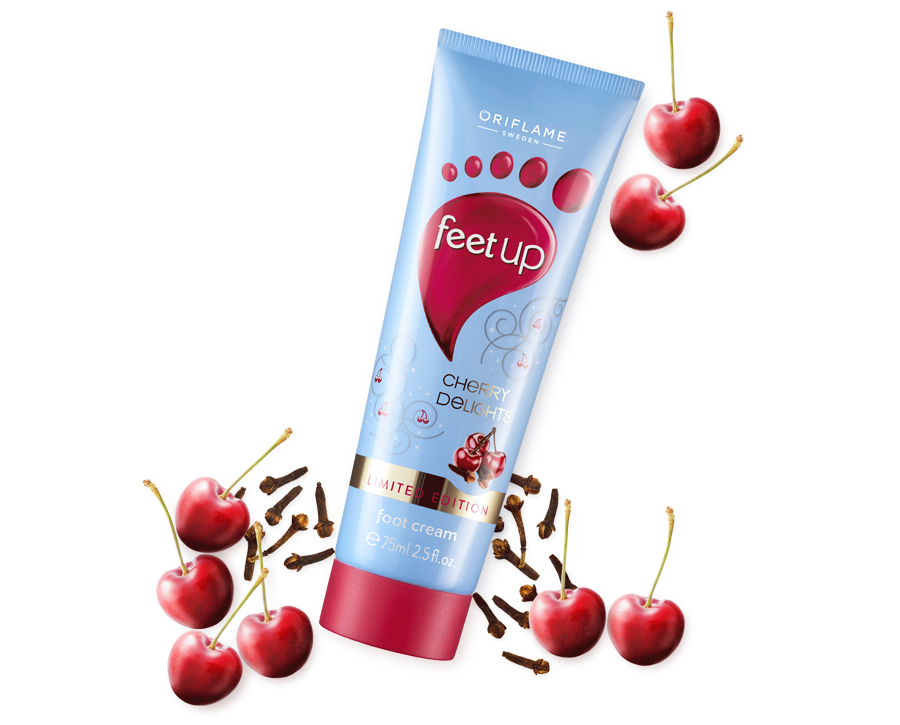 Creme de Pés Cherry Delights Feet Up da Oriflame