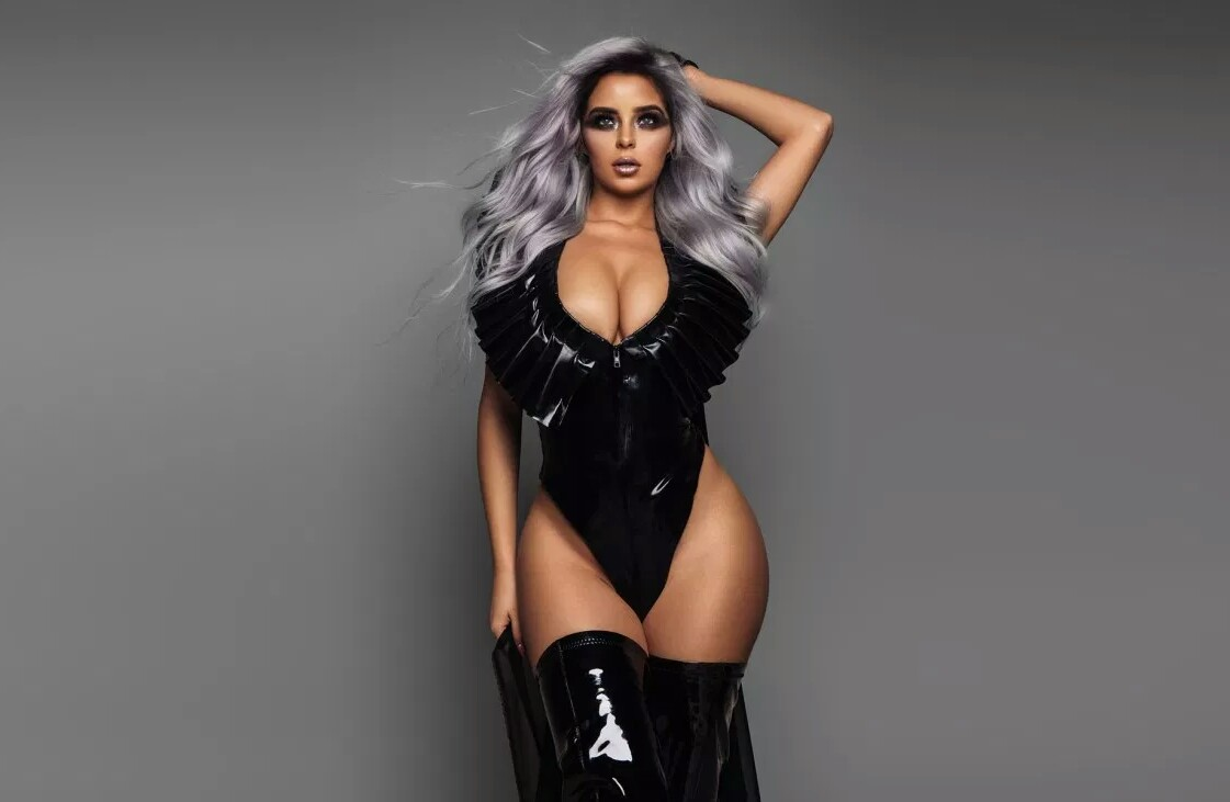 Demi Rose in Black and Ashes Hair, Modeling