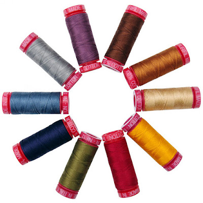 Aurifil - 12wt Finishing Thread in Scone Colorway exclusive to the Fat Quarter Shop