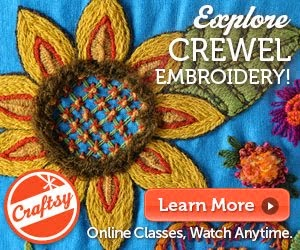 KRISTIN'S ON-LINE CREWEL EMBROIDERY CLASS ON CRAFTSY