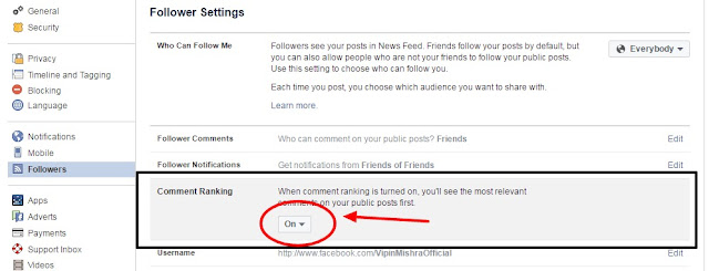 enable comment ranking facebook