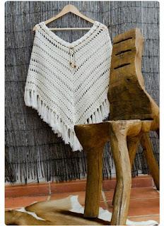poncho de crochet ganchillo