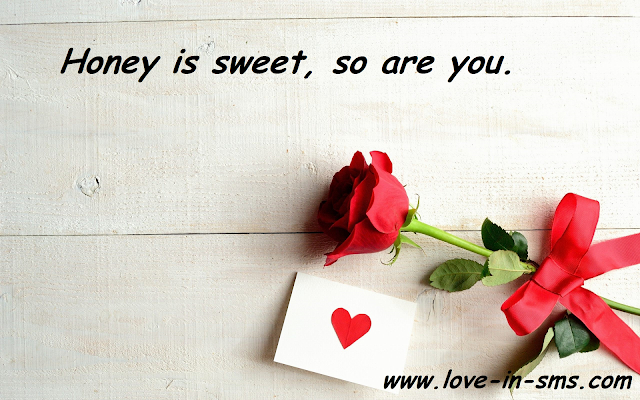 Honey is sweet, so are you.