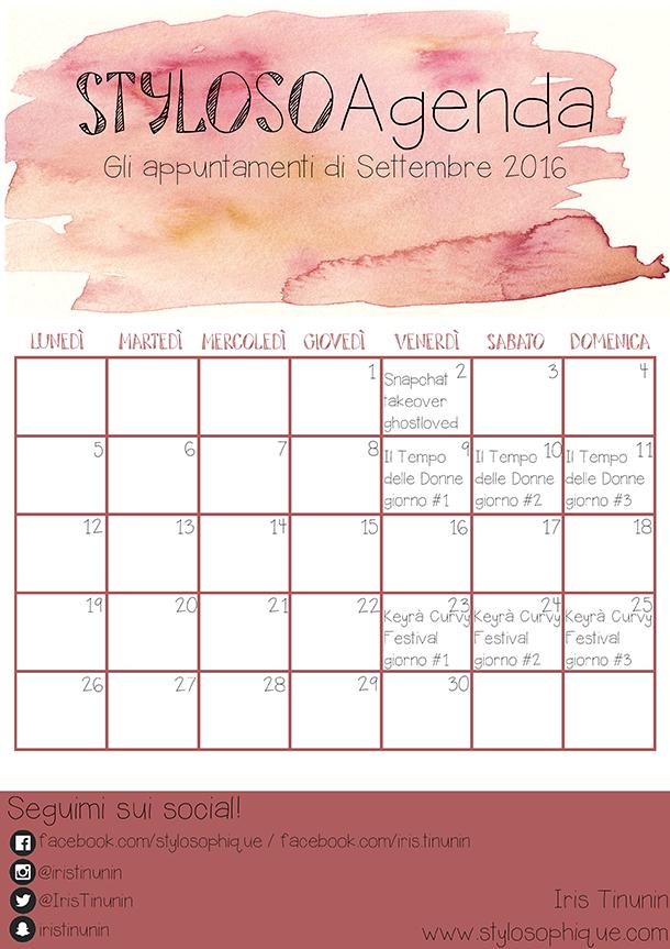 Planner, agenda, organizzazione, settembre 2016, stylosoagenda, iris tinunin