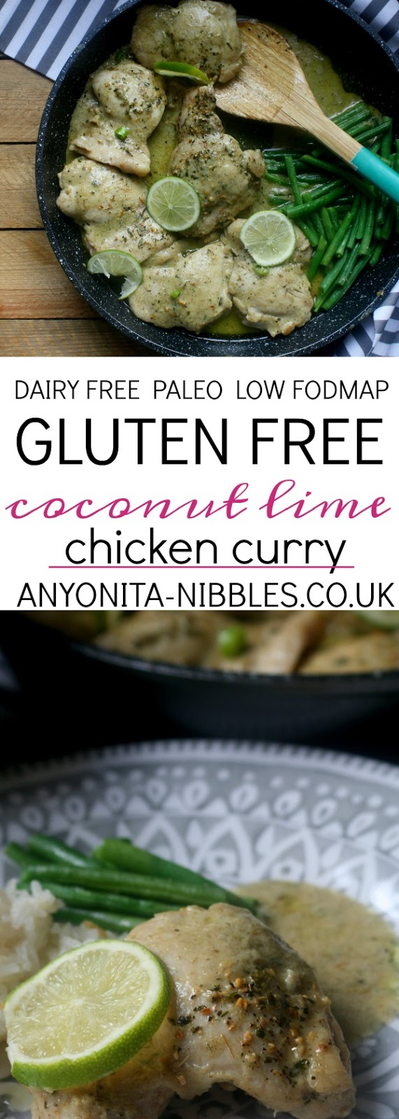This quick chicken curry recipe is dairy free, gluten free, paleo and low fodmap!
