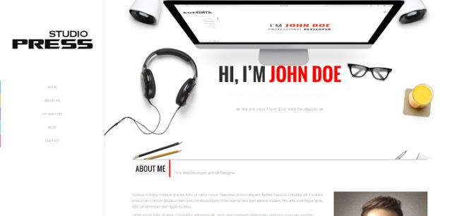 StudioPress шаблон blogger для одностраничного сайта с блогом