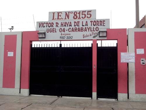 Escuela 8155 VICTOR RAUL HAYA DE LA TORRE - Carabayllo