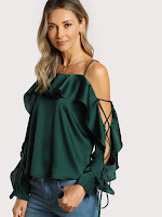 http://fr.shein.com/Lace-Up-Sleeve-Flounce-Trim-Top-p-391241-cat-1733.html