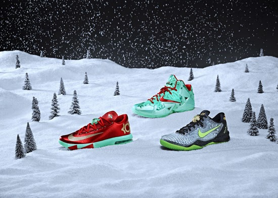 sports shoes 9ed2b 23669 LeBron James, Kobe Bryant and Kevin Durant will all receive special  colorways of their signature shoes for Christmas.