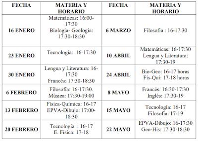 Calendario de pendientes 2017-18