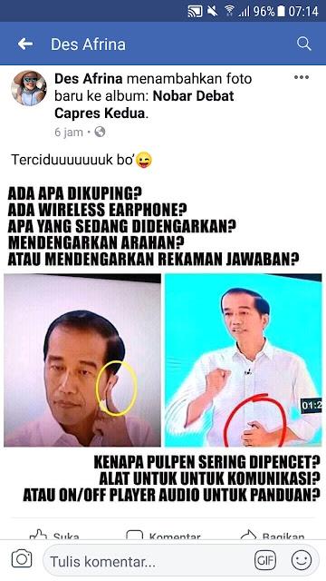 HEBOHHH... Netizen Bertanya-tanya 'Alat Apa' Yang Dipegang Jokowi Saat Debat