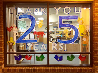Poolesville Library 25th Anniversary Window