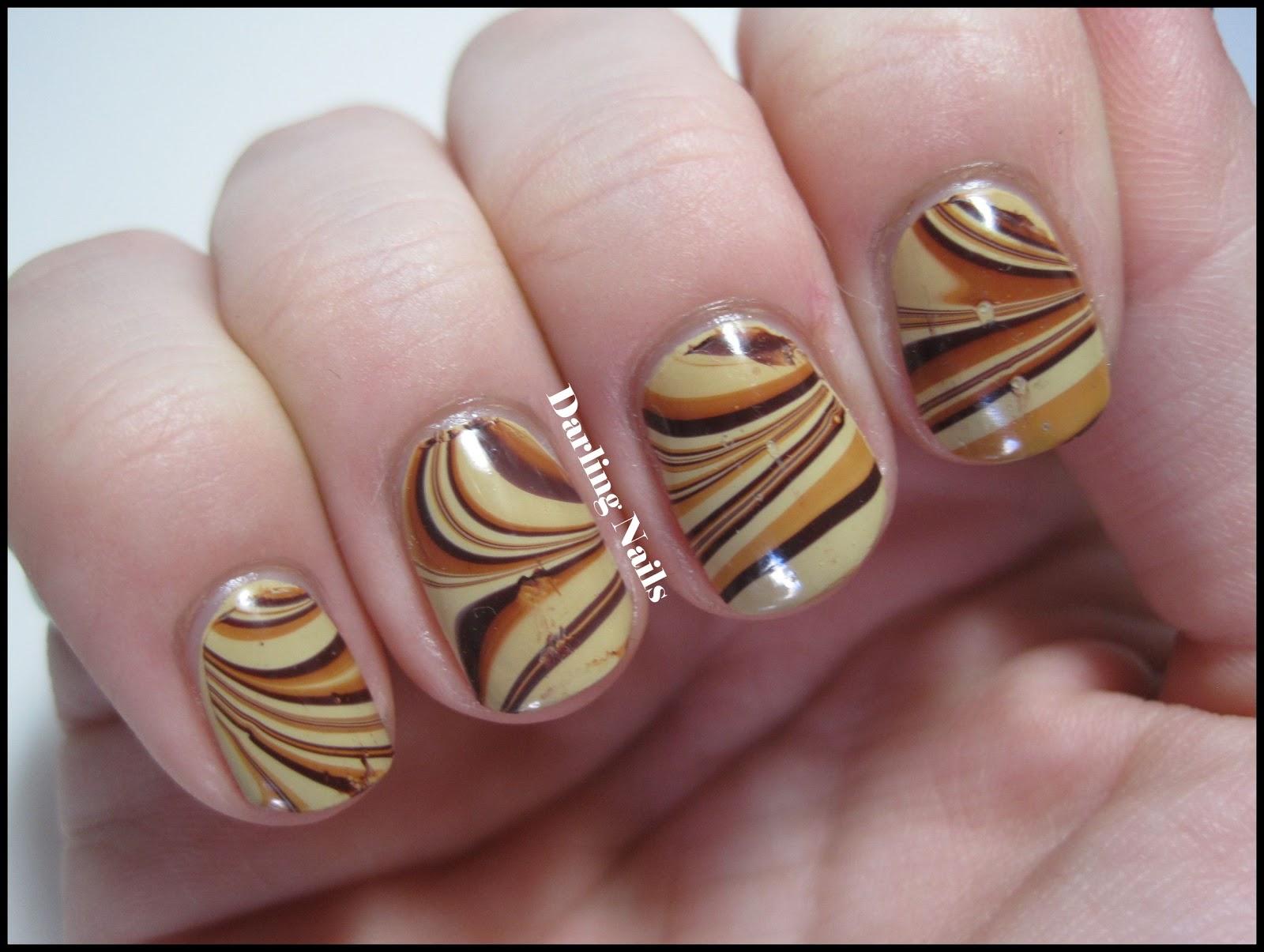 Darling Nails Caramel Toffee Swirls