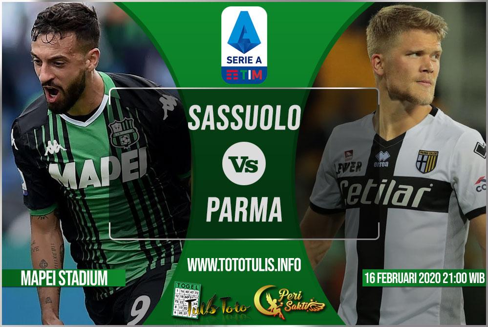 Prediksi Sassuolo vs Parma 16 Februari 2020