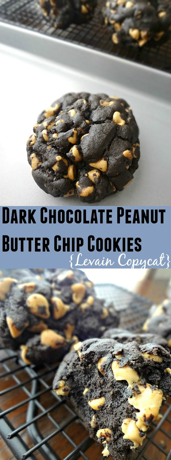 Dark Chocolate Peanut Butter Chip Cookies {Levain Copycat}