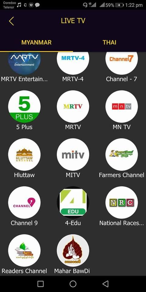 Downloading of Myanmar Application to watch TV 2 0 9 apk - English