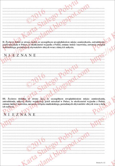 Wniosek o potwierdzenie posiadania obywatelstwa polskiego (s.8)