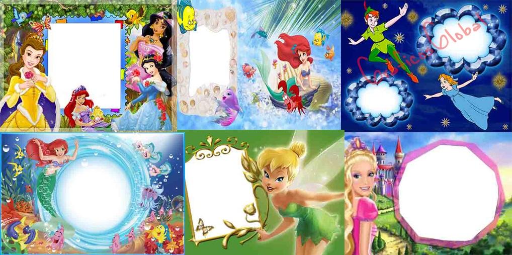 12 Marcos princesas plantillas psd
