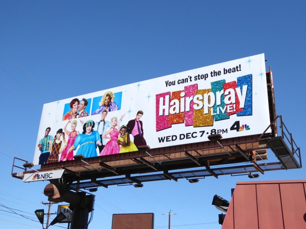 Hairspray Live NBC billboard