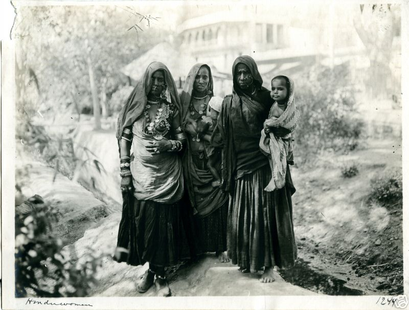 Hindu Women with Children - 1912