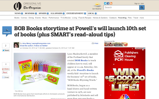"SMART makes the cut for post from The Oregonian's ""Omamas"" blog with these Read Aloud Tips: October, 2013"