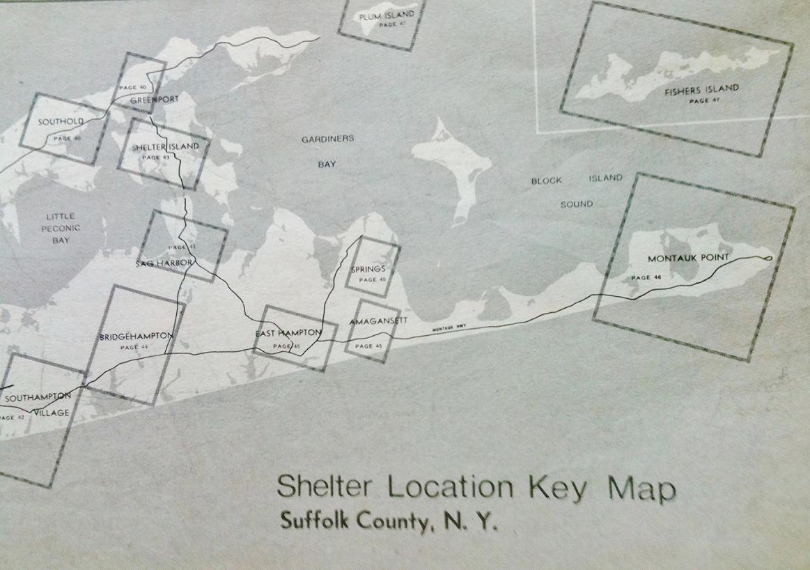 each square on the map was a area that had sufficient public shelter and was a page in the newspaper mailout this style was widely used around the united