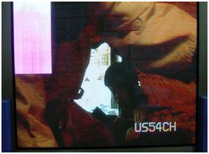 Área rosada en la parte superior izquierda de la pantalla PLASMA.
