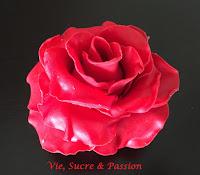 Fondant Red Rose
