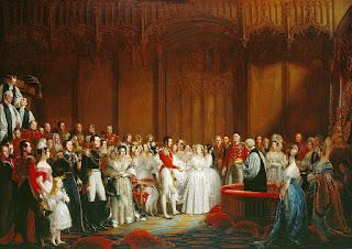 Boda de la reina Victoria con el príncipe Alberto, pintura de George Hayter.