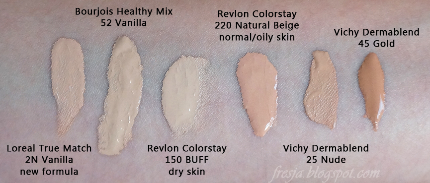 Fresja Bourjois Healthy Mix Revlon Colorstay Loreal