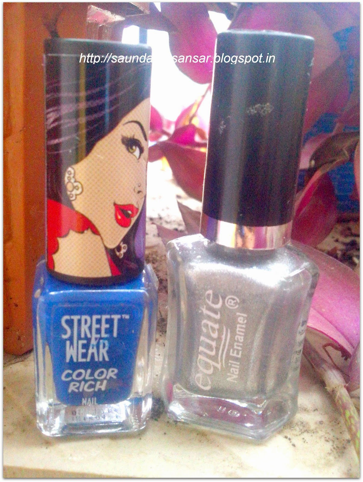 Street Wear Color Rich and Equate Nail Enamel, Bottles, review