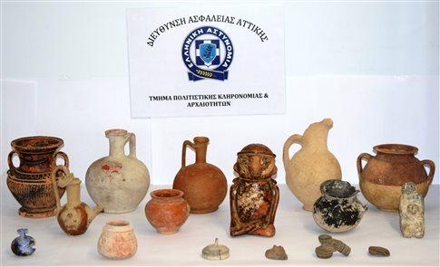 Οι αστυνομικοί «χάλασαν» αγοραπωλησία αρχαίων αντικειμένων